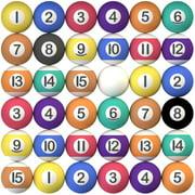 "Bouncy Balls Bulk Little Pool Balls for Kids and Gumball Machine 200 pcs 27mm, 1.1"""