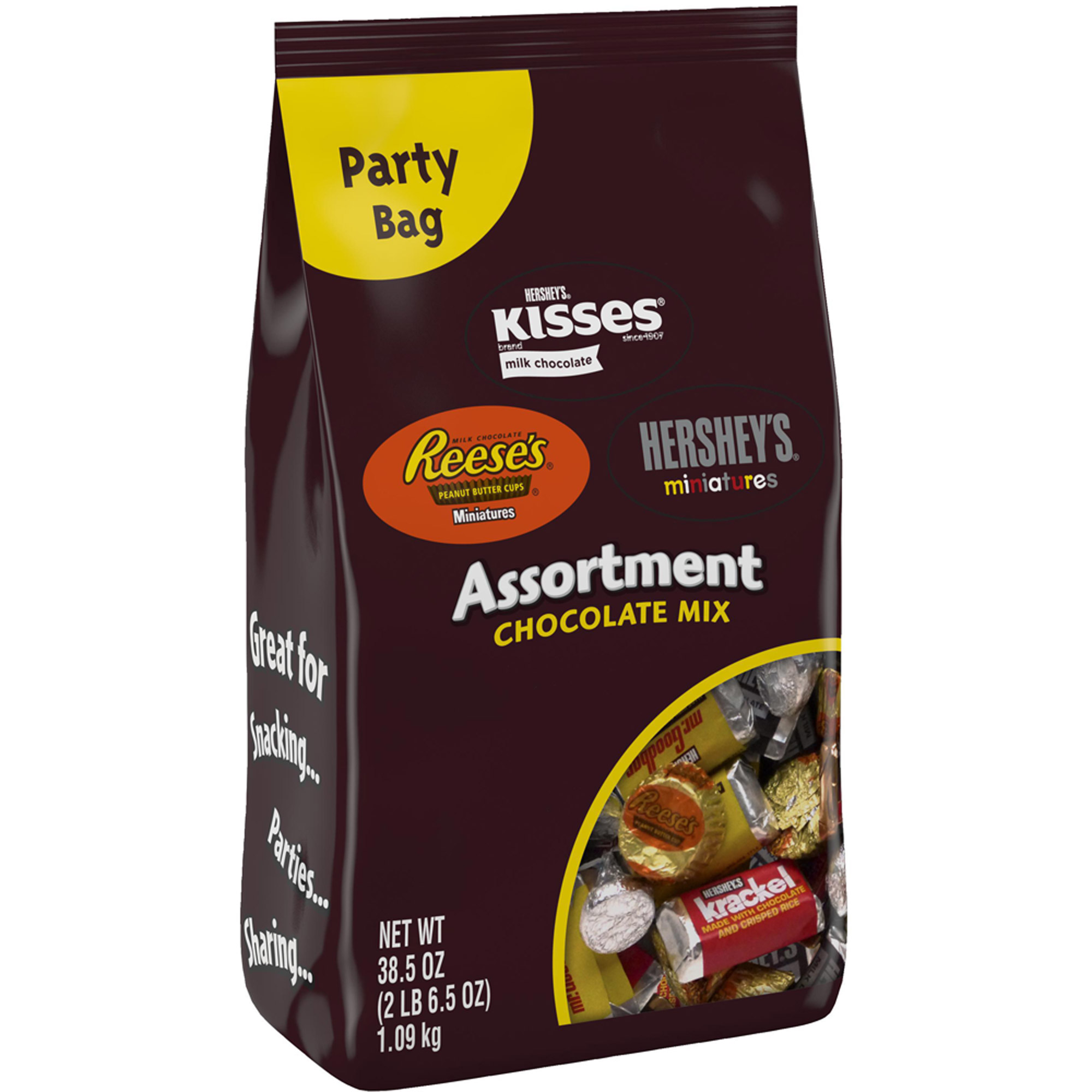 Hershey's Assortment Chocolate, 38.5 oz