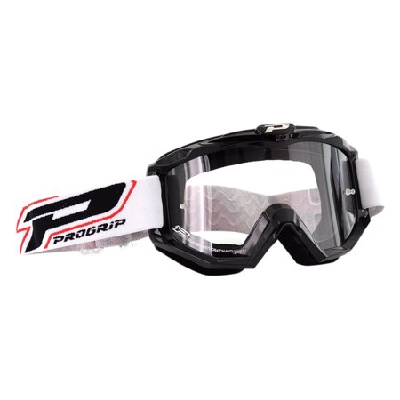 Pro Grip 3201 Raceline MX Goggles w/Clear Lens Black