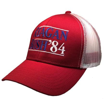 Reagan Bush 84 Campaign Adult Trucker Hat Walmart Com