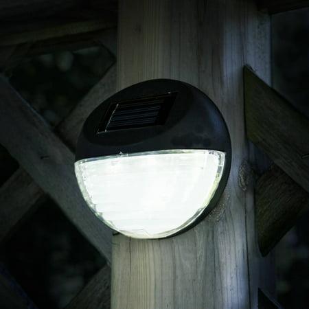 Pure Garden Round Solar Led Lights Black Set Of 4