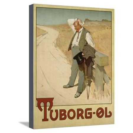 Advertising Canvas (Advertising Poster for Tuborg Beer, 1900 Stretched Canvas Print Wall Art By Plakatkunst)