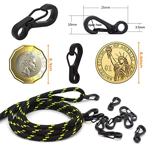 Mini SF Spring Backpack Clasps Rock Climbing Carabiners EDC Keychain Camping
