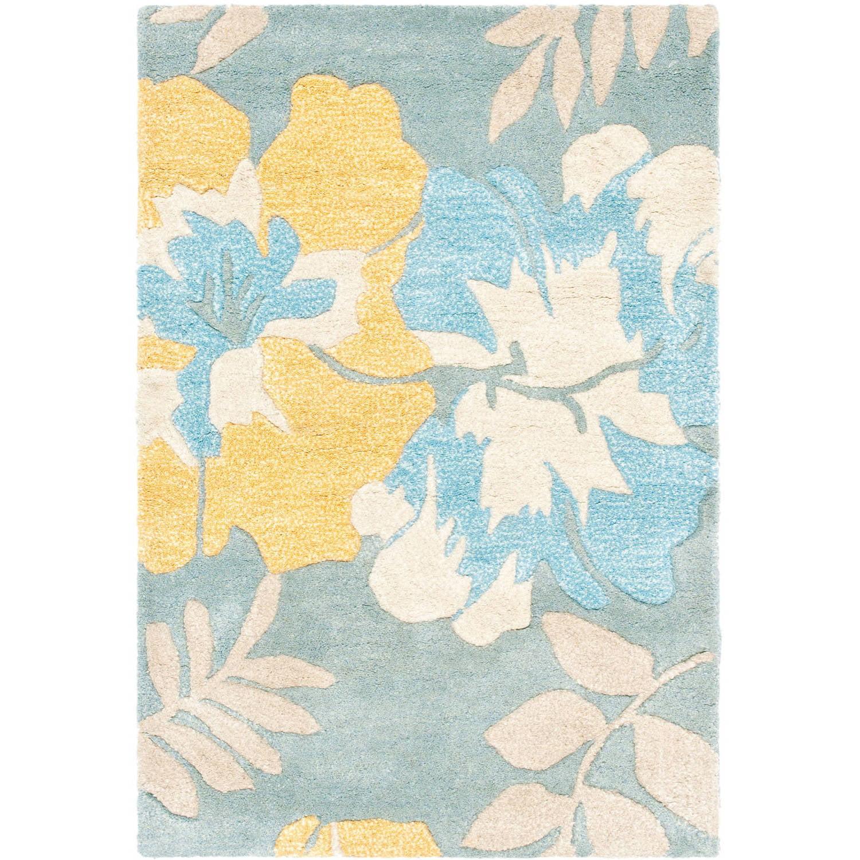 Safavieh Soho Brooklyn Wool Area Rug, Blue/Multi-Color