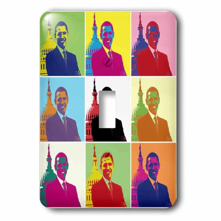3dRose President Barack Obama Pop Art (Multi-Views), Single Toggle Switch