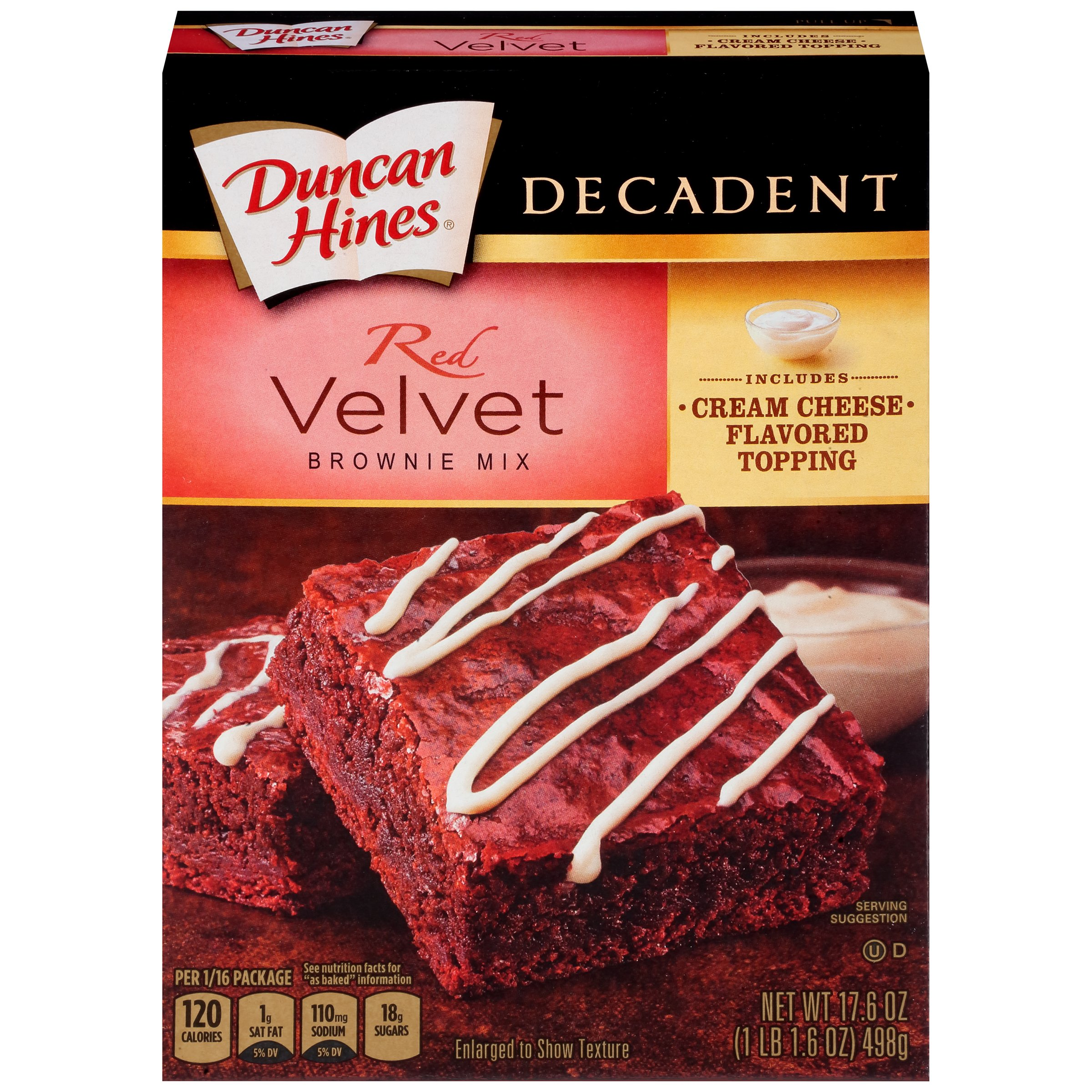 duncan hines decadent red velvet brownie mix 17 6 oz box