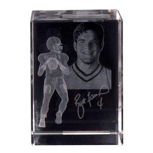 NFL - Brett Favre Green Bay Packers Engraved Large Crystal