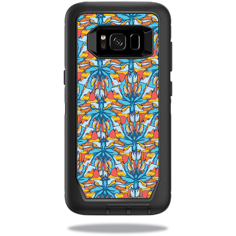 MightySkins Protective Vinyl Skin Decal for OtterBox DefenderSamsung Galaxy S8 Case sticker wrap cover sticker skins Sunset Flowers