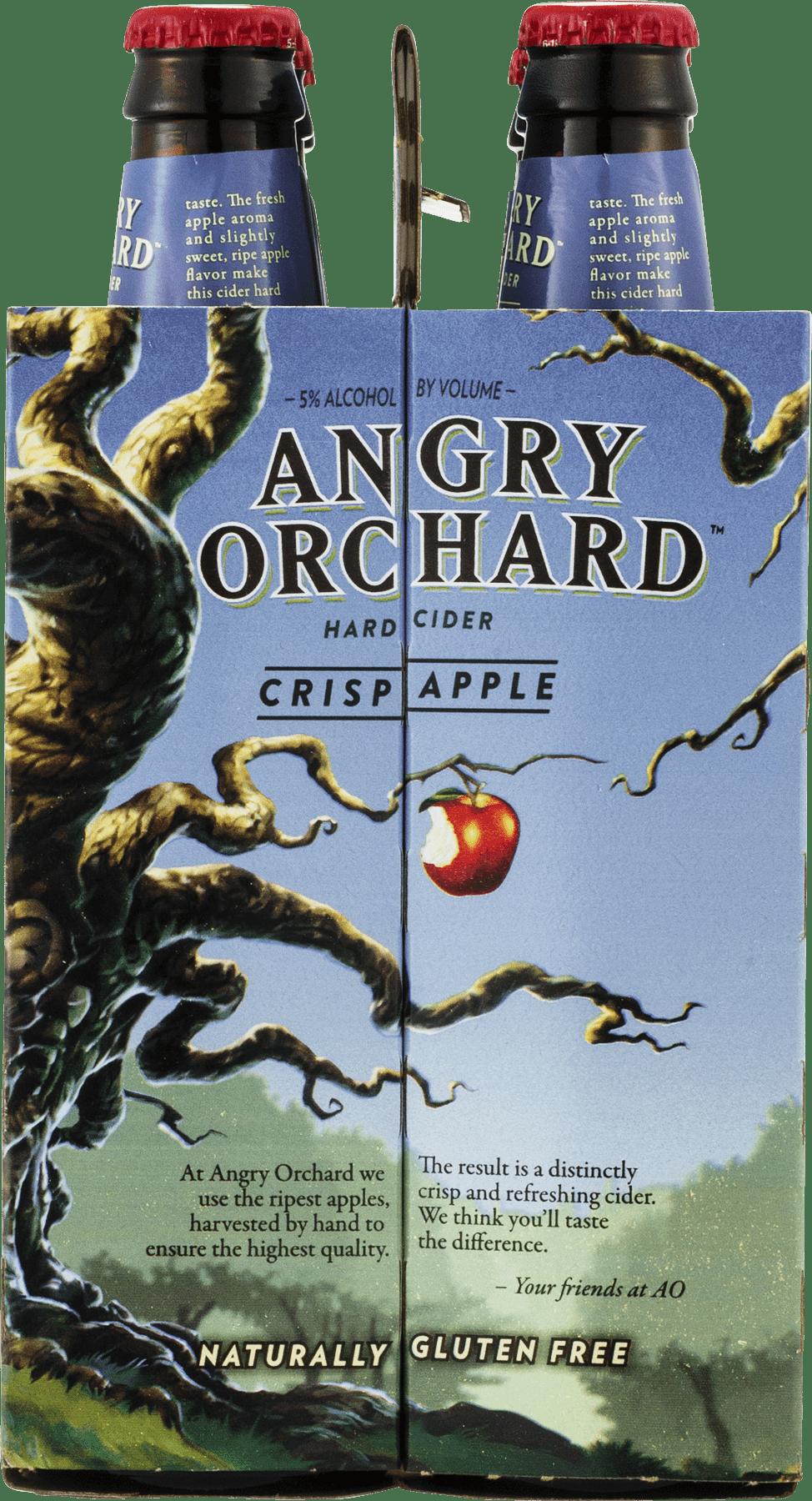 Angry Orchard Crisp Apple Hard Cider, 6 pack, 12 fl oz - Walmart.com