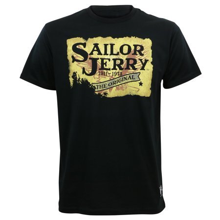 Sailor Jerry Tattoo Mens Scorching Hot Slim Fit T-Shirt Black](Men Sailor)