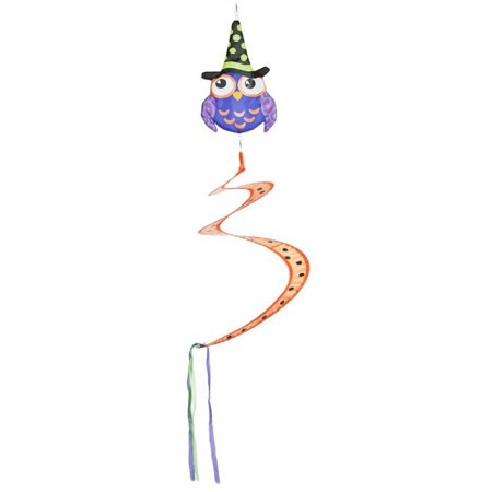 Witch Hat Owl Halloween Outdoor Hanging Mobile - By Ganz](Owls Head Halloween 2017)