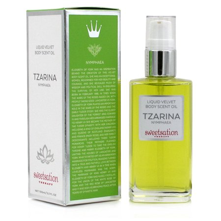 TZARINA Liquid Velvet Body Scent Oil, Nymphaea, 3.3oz