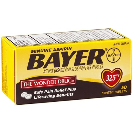 6 Pack - Bayer Genuine Aspirin Coated Tablets, 325 mg,  50