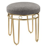 Sterling Stool With Gold Legs