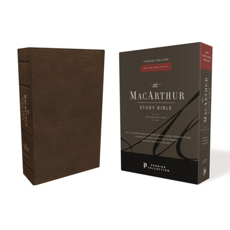 Nkjv, MacArthur Study Bible, 2nd Edition, Premium Goatskin Leather, Black, Premier Collection, Comfort Print : Unleashing God's Truth One Verse at a (Bible Verse To Comfort Loss Of A Child)