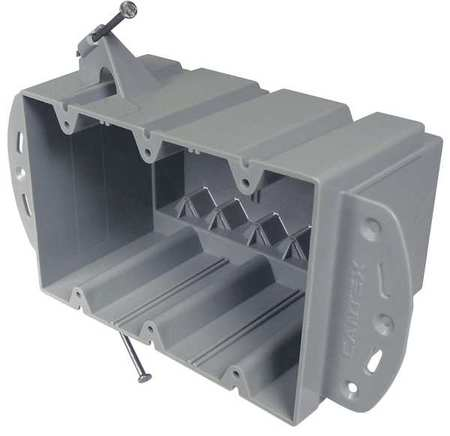 Electrical Box,3 Gang,74 cu in,PVC CANTEX EZ74TNR