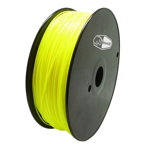 bison3D Filament for 3D Printing, 1.75mm, 1kg/roll, Yellow (ABS)