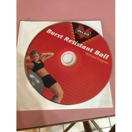 Valeo Fitness Gear Burst Resistant Ball Workout Program Ships N 24h Only CD