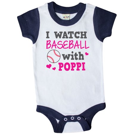 I Watch Baseball with My Poppi Infant Creeper