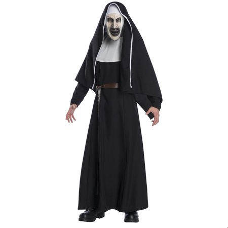 The Nun Movie Deluxe Adult Halloween Costume](Halloween Costume Ideas Adults Last Minute)