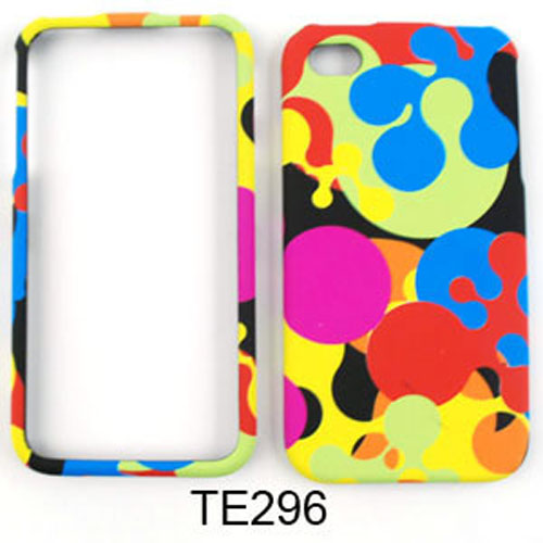 Snap-On Protector Case for Apple iPhone 4 / 4S (Colorful Milk Drop)