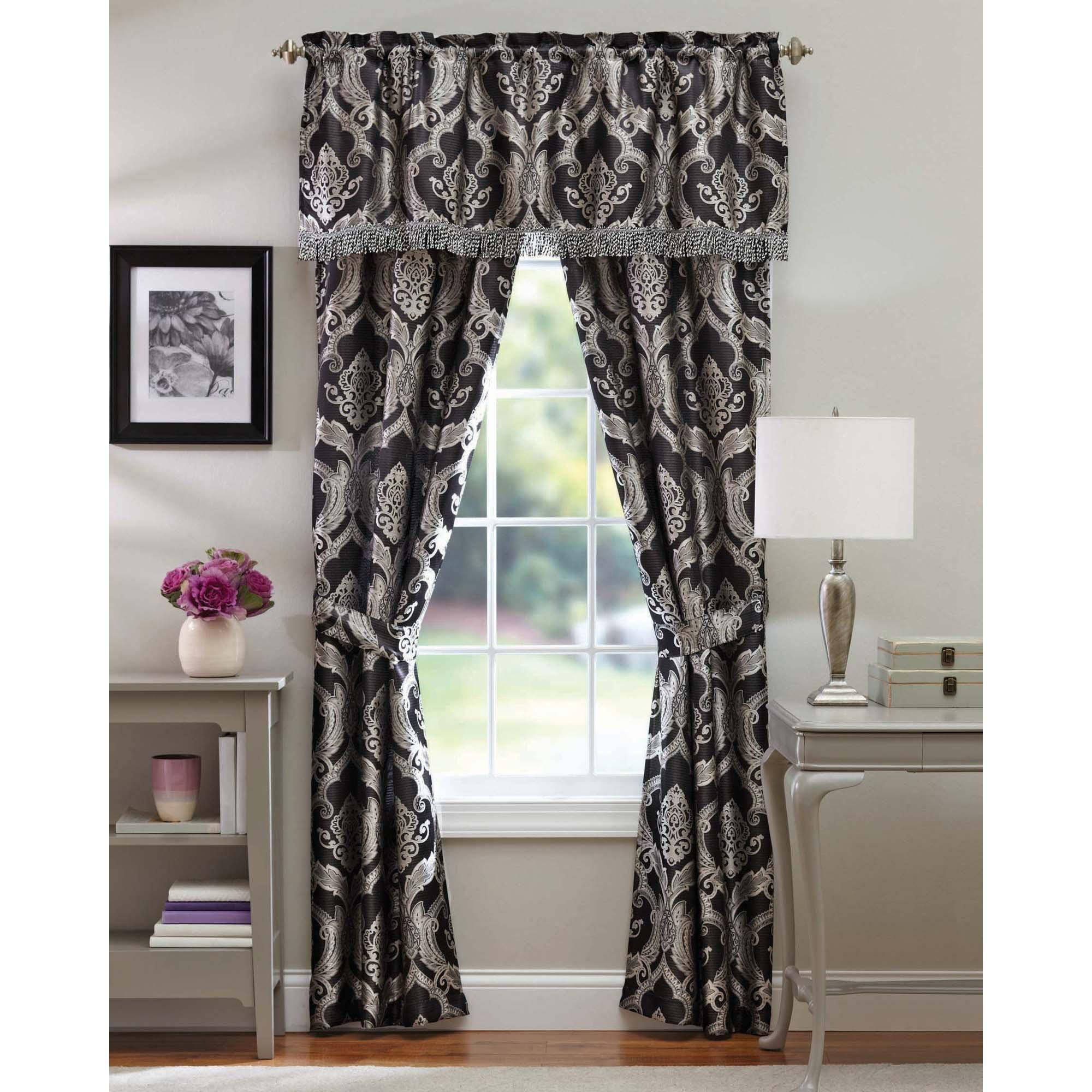 Better Homes and Gardens Brocade Jacquard 5-Piece Curtain Panel Set