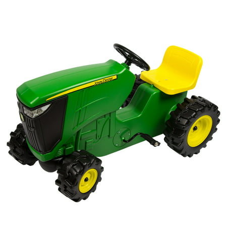 John Deere Pedal Powered Tractor, Kids Ride-On Toy Tractor With Adjustable Seat, Green John Deere Tricycle
