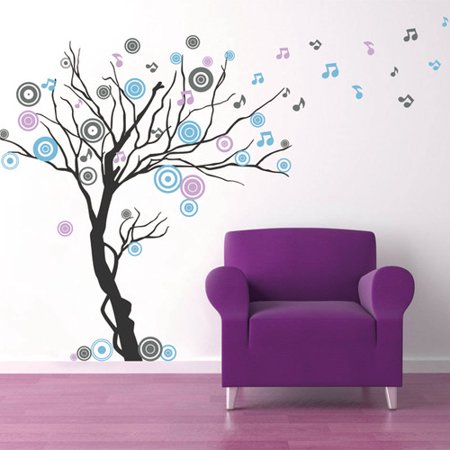 Pop Decors Music Tree Wall Decal