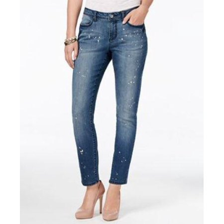 Earl Jean Women's Denim Bleach Splatter Skinny Jeans Size