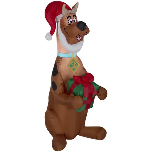 Scooby with Present Airblown Christmas Decoration