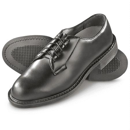 US Navy USMC GI Genuine Military Issue Men's Wellco Oxford Black Leather Soft Vibram Sole Formal Uniform Shoes Slight Blemish (Military Uniform Shoe)