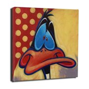 Lord Mischief Entertainment Chuck Jones ''Daffy Duck'' by Tim Rogerson Graphic Art on Wrapped Canvas