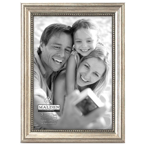 5x7 Silver Bead  Picture Frame