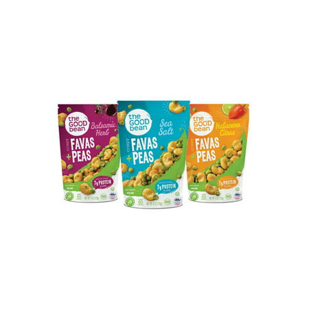 The Good Bean Crispy Favas + Peas, Variety Pack 6ct.