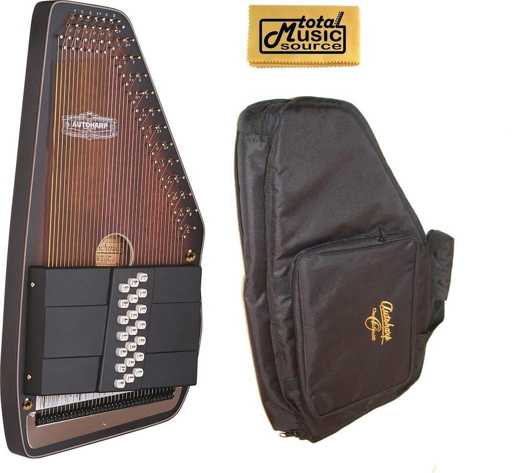 Oscar Schmidt 21 Chord A E Ozark Autoharp with Gig Bag, SOLID Spruce Back, OS11021AE-AC445 by Oscar Schmidt