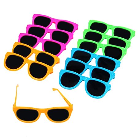 Dazzling Toys Neon Colored Party Sunglasses-12 (D231)