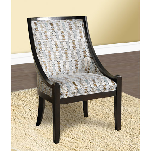 Patterned High Back Accent Chair, Multiple Colors