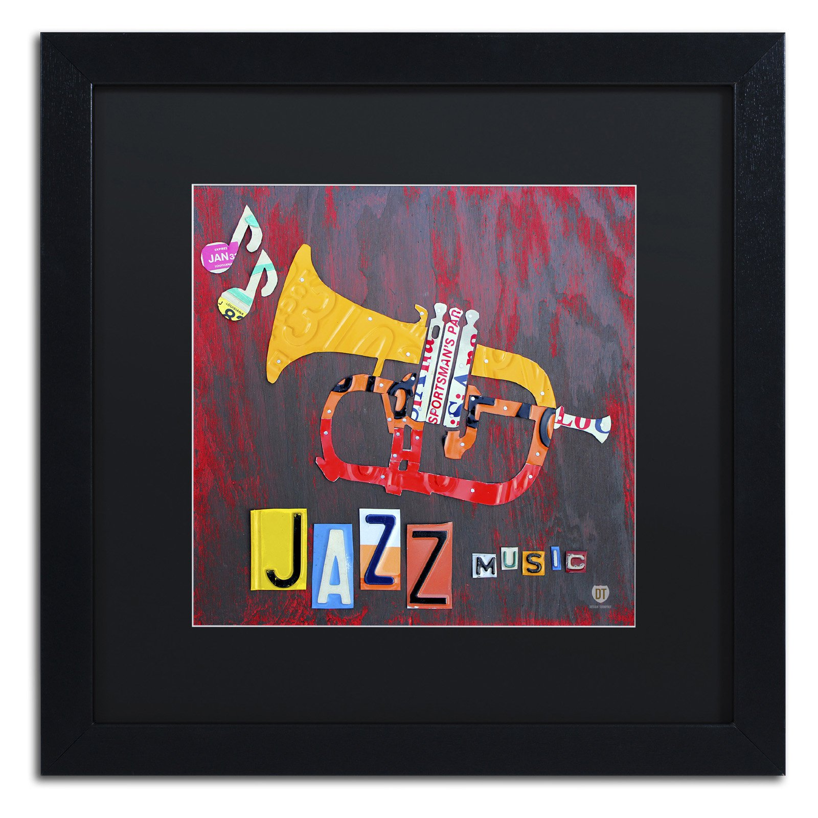Trademark Fine Art Jazz Series Trumpet Framed Wall Art