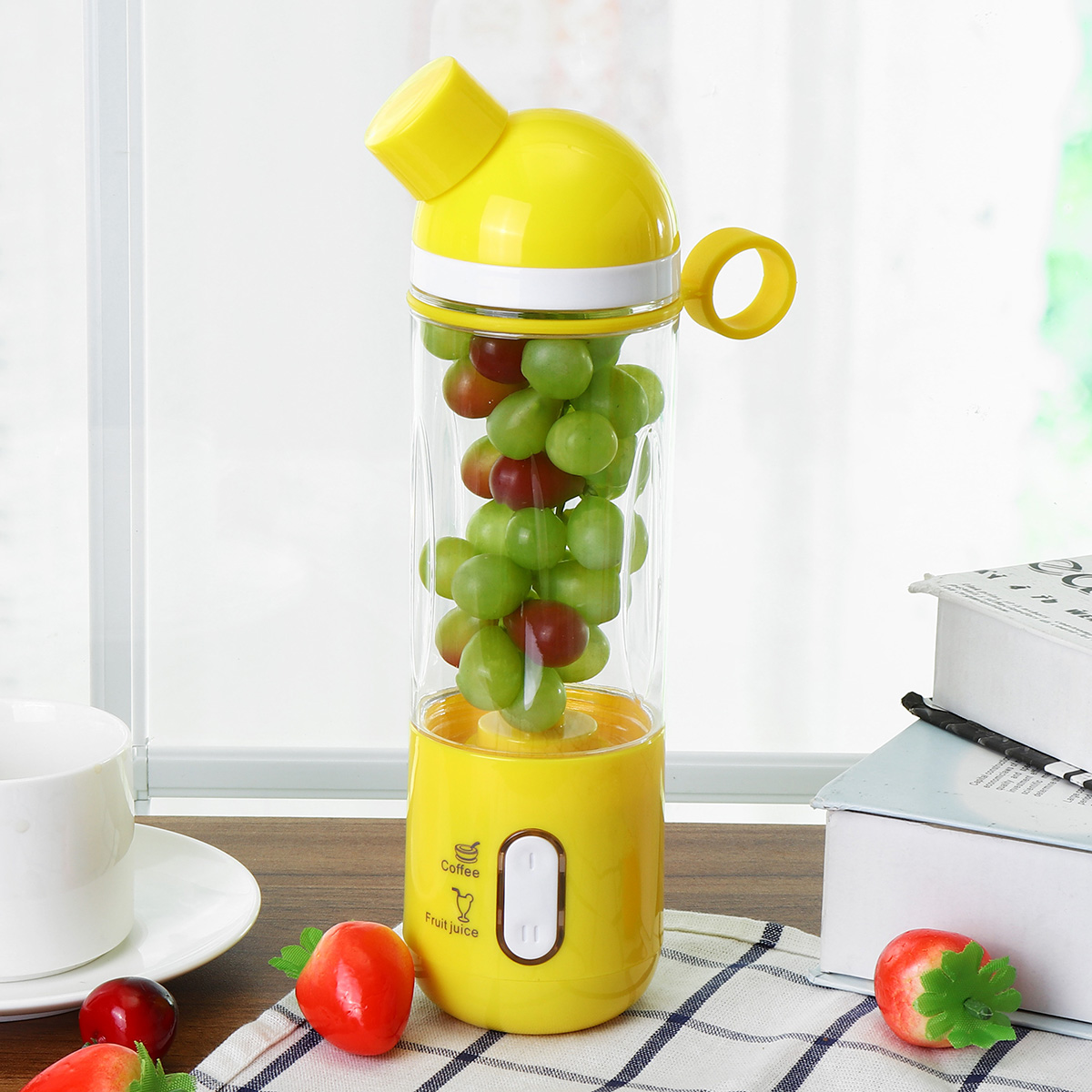 400ML USB Mini Fruit Juicer Cup Handheld Extractor Smoothie Maker Ice Crusher Bottle Portable With USB Cable... by