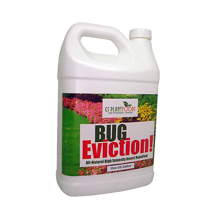 Bug Eviction - Organic Garden Pest Control, Natural Pest Killer Pesticide for Garden Plants, Vegetable, Evicts Moth, Caterpillars, Aphid, Earwigs - Organic Pest Control - 1 Gallon of Concentrate Pest Control Earwigs