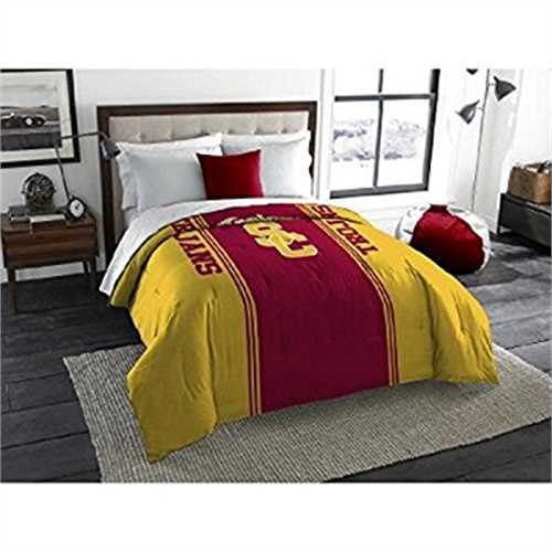 1 Piece NCAA USC Trojans Comforter Twin/Full, Sports Patterned Bedding, Featuring Team Logo, Fan Merchandise, Team Spirit, Colle