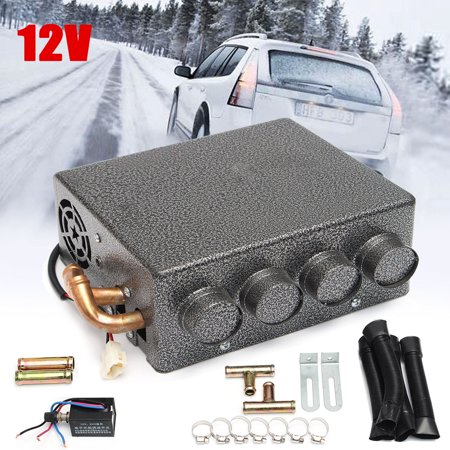12V 4 Ports Grey Car Universal Under Dash Heater Heat Defroster Demister W/ Speed Switch