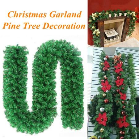 Fireplace Christmas Ornament (Meigar Green Christmas Garland Pine Wreath Christmas Fireplace Decor Ornament)