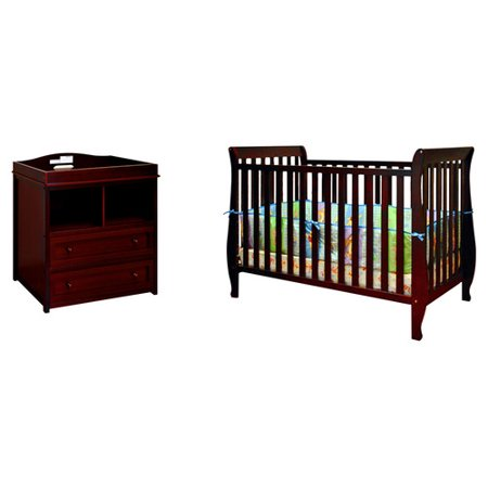 AFG Baby Furniture Naomi 4-in-1 Convertible 2 Piece Crib Set