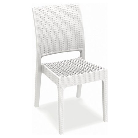 Compamia Orlando Wicker Rectangle Patio Dining Set with Florida Side Chairs - Seats 6 ()