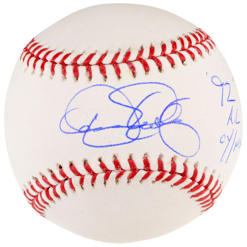 Dennis Eckersley Oakland Athletics Autographed Baseball with 92 AL CY/MVP Inscription
