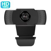 1080P HD Webcam Conference Video Calling Computer Camera with Microphone for Computer PC Laptop Desktop