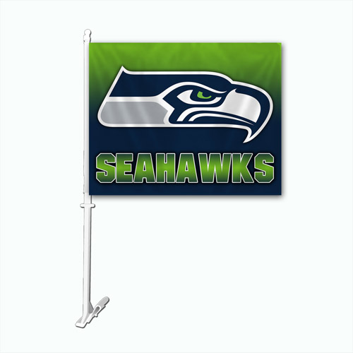 Seattle Seahawks Car Flag  - NFL Licensed #99714