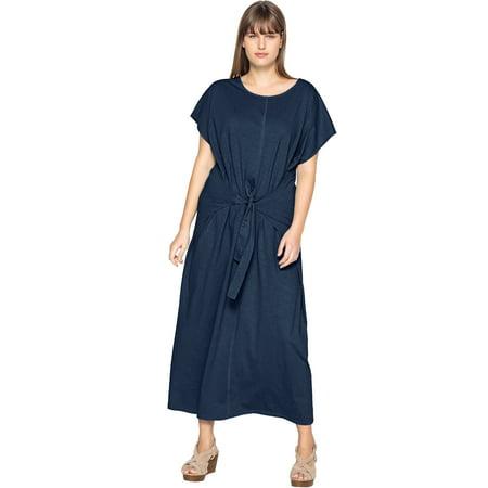 c6b5ee918f Castaluna - Castaluna Plus Size Tie-front Maxi Dress - Walmart.com