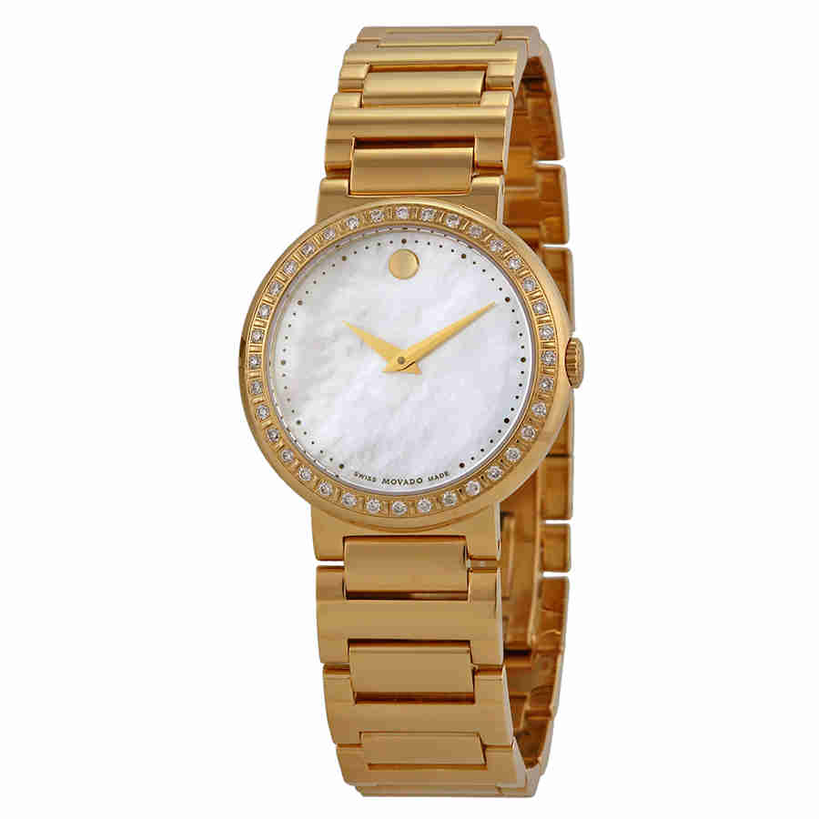 Movado Concerto Mother of Pearl Gold-plated Ladies Watch ...